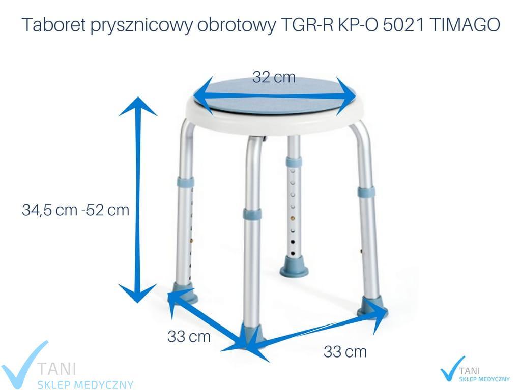 Genialny Taboret obrotowy do wanny pod prysznic TGR-R KP-O 5021 TIMAGO WL32